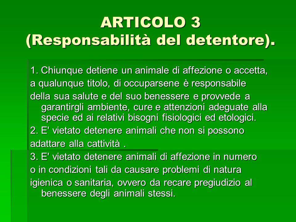 ARTICOLO 3 (Responsabilità del detentore).