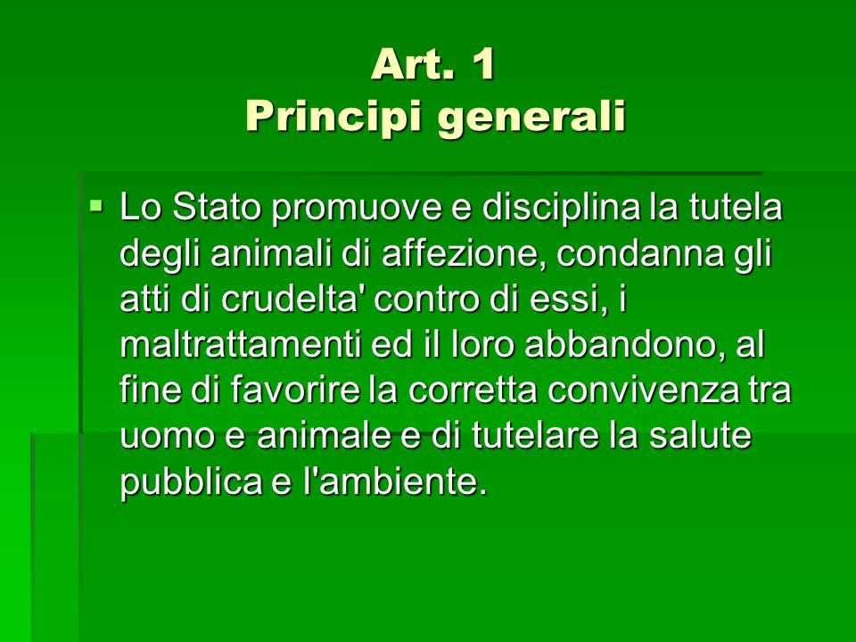 Art. 1 Principi generali