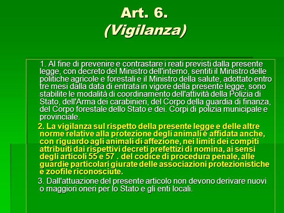 Art. 6. (Vigilanza)