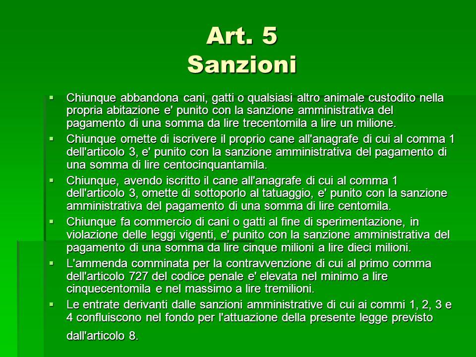Art. 5 Sanzioni