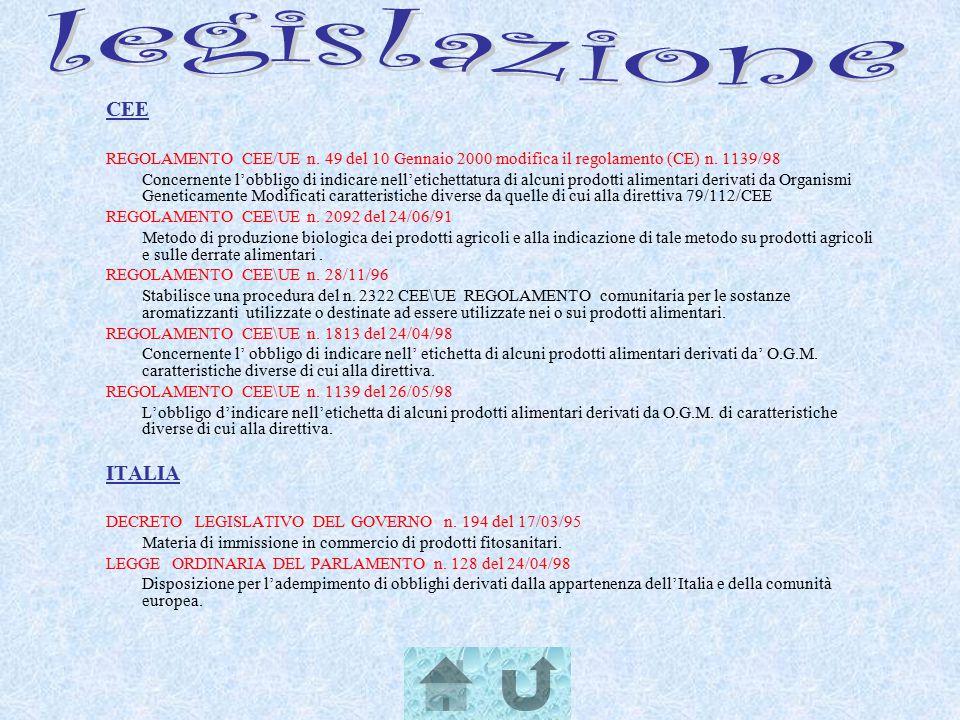 legislazione CEE ITALIA