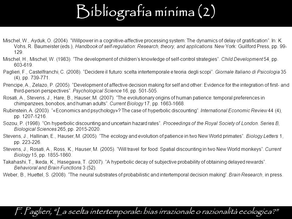 Bibliografia minima (2)
