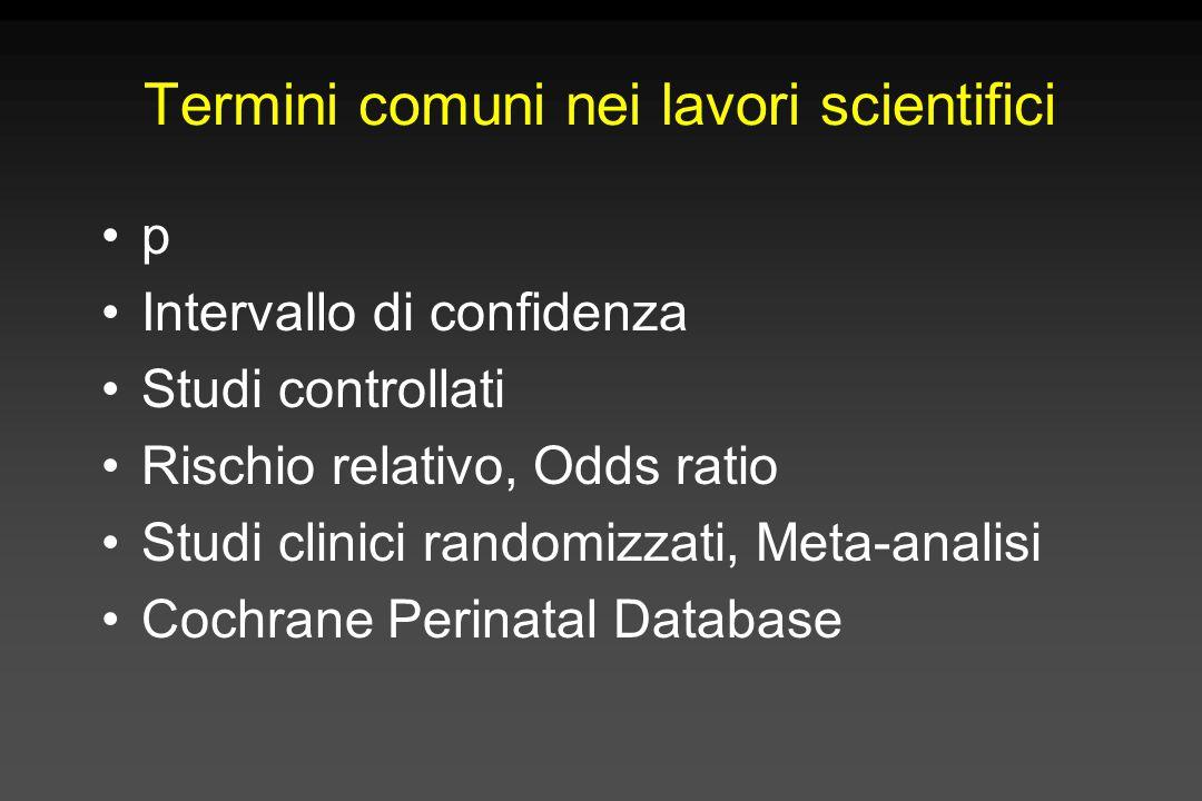 Termini comuni nei lavori scientifici