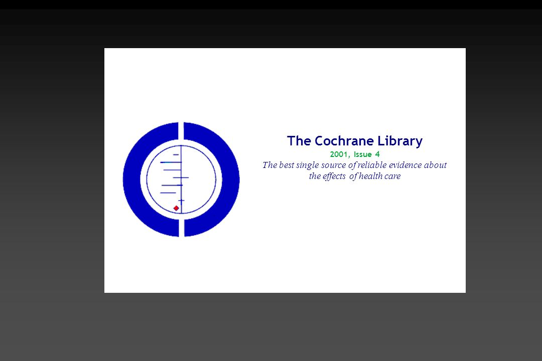 The Cochrane Library.