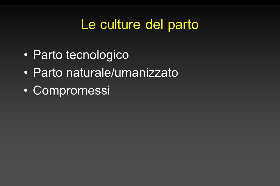 Le culture del parto Parto tecnologico Parto naturale/umanizzato