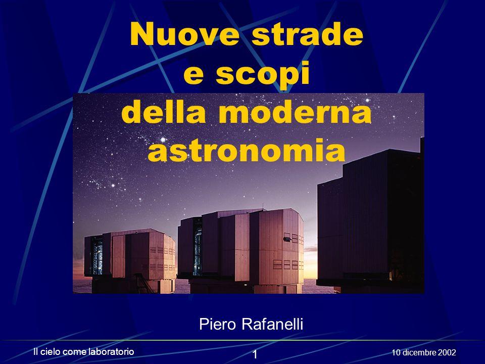 Nuove strade e scopi della moderna astronomia