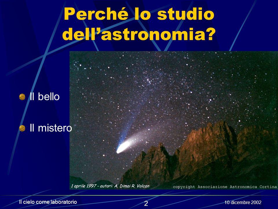 Perché lo studio dell'astronomia