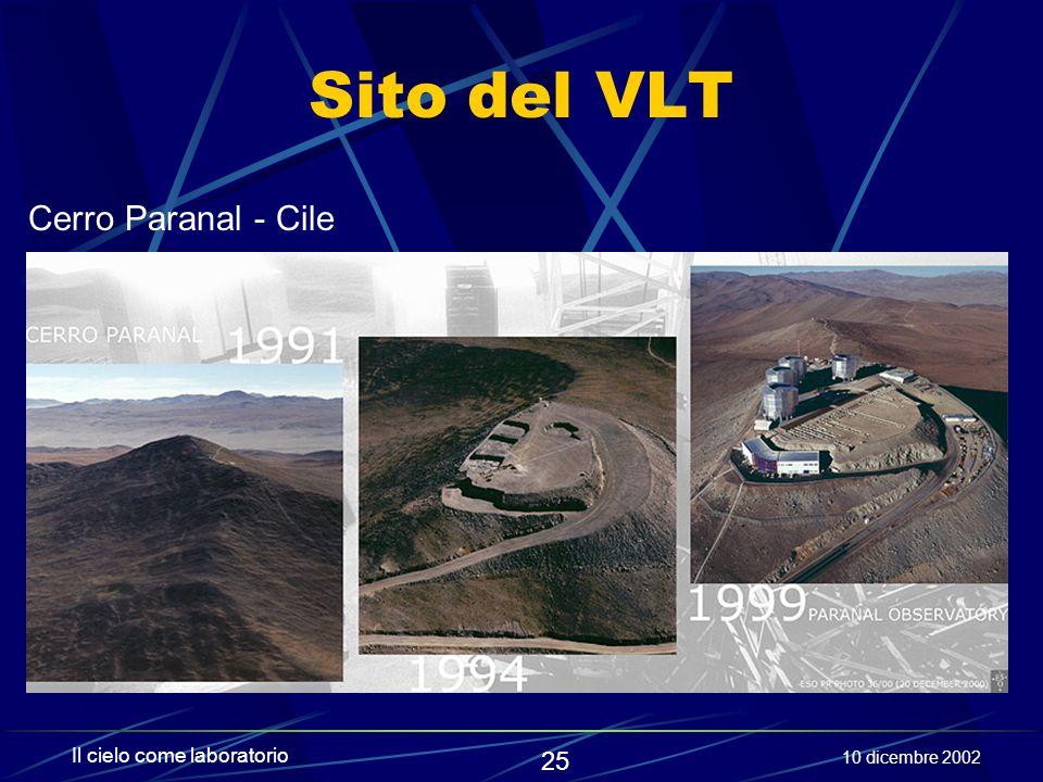Sito del VLT Cerro Paranal - Cile Il cielo come laboratorio