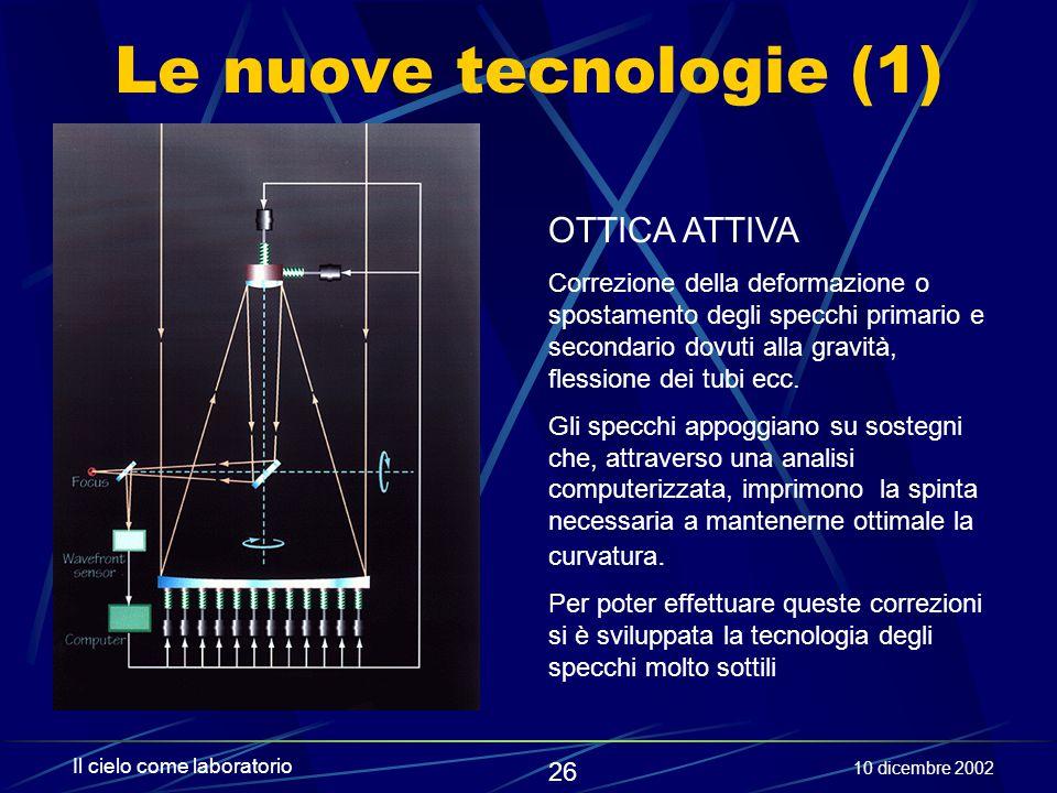 Le nuove tecnologie (1) OTTICA ATTIVA