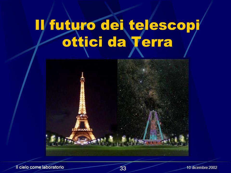 Il futuro dei telescopi ottici da Terra