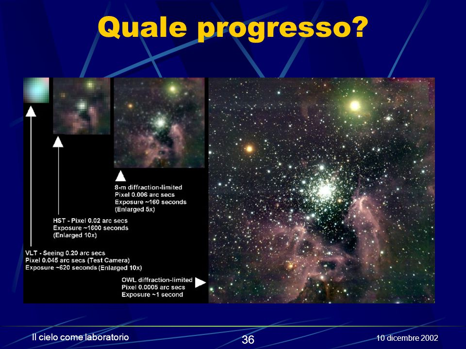 Quale progresso Il cielo come laboratorio 10 dicembre 2002