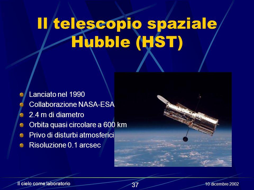 Il telescopio spaziale Hubble (HST)