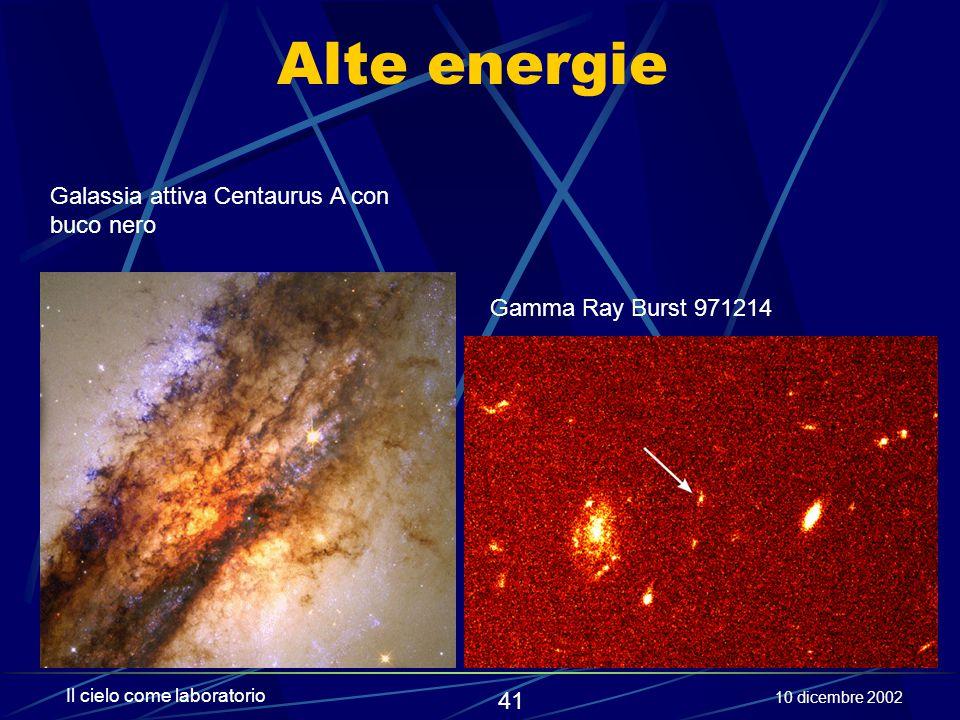 Alte energie Galassia attiva Centaurus A con buco nero