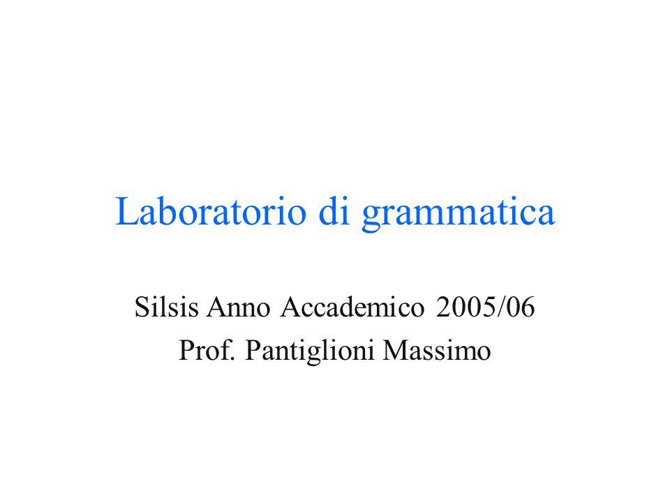 Laboratorio di grammatica