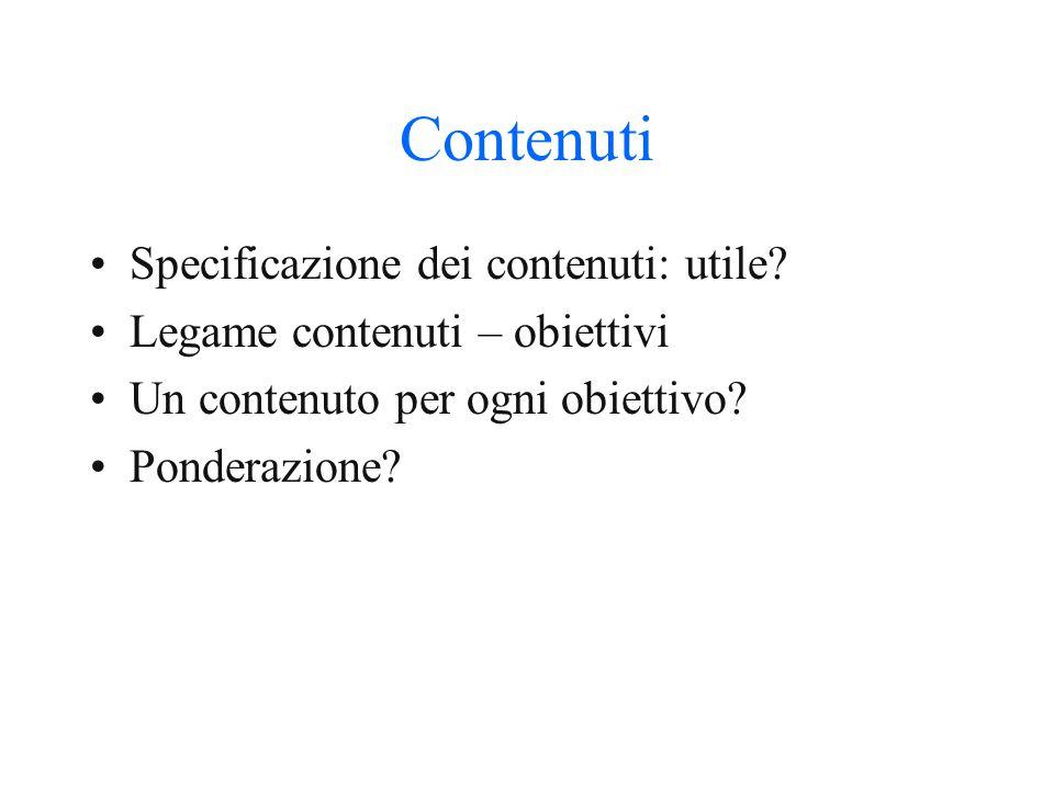 Contenuti Specificazione dei contenuti: utile