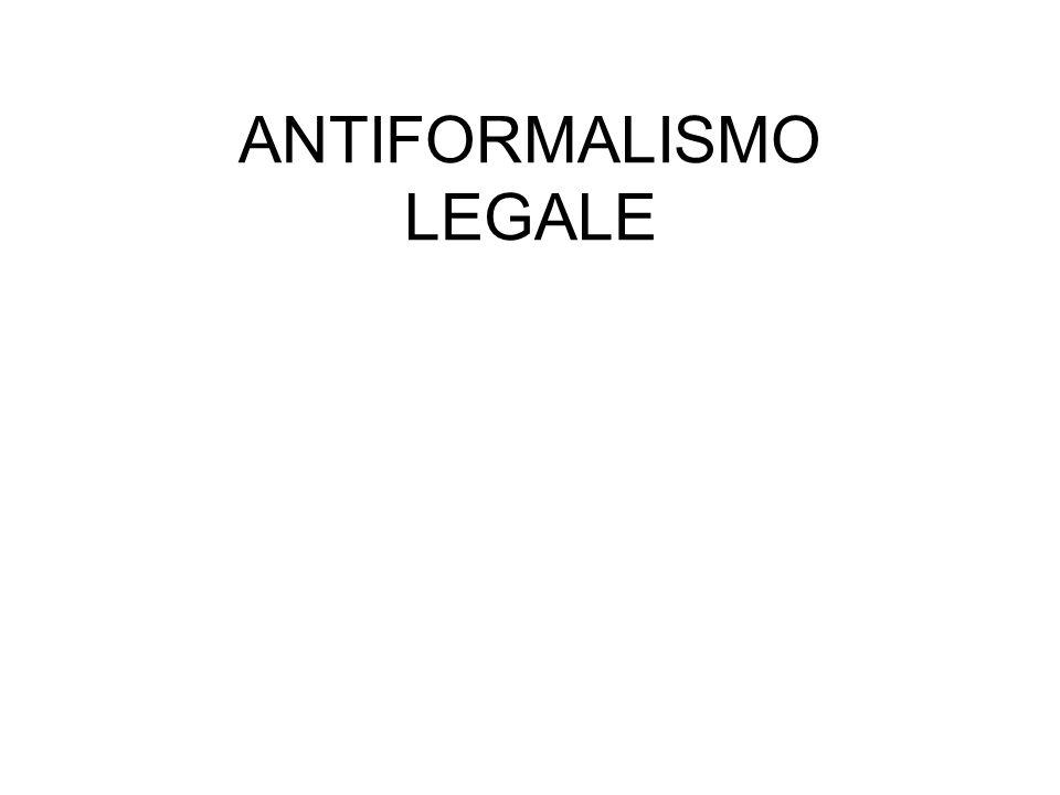 ANTIFORMALISMO LEGALE