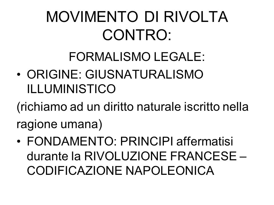 MOVIMENTO DI RIVOLTA CONTRO:
