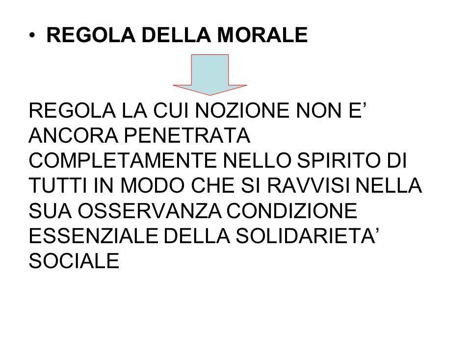 REGOLA DELLA MORALE REGOLA LA CUI NOZIONE NON E' ANCORA PENETRATA. COMPLETAMENTE NELLO SPIRITO DI.