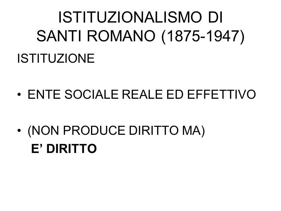 ISTITUZIONALISMO DI SANTI ROMANO (1875-1947)