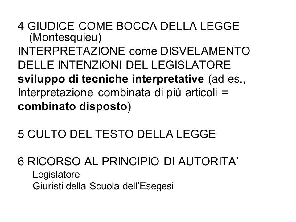 4 GIUDICE COME BOCCA DELLA LEGGE (Montesquieu)