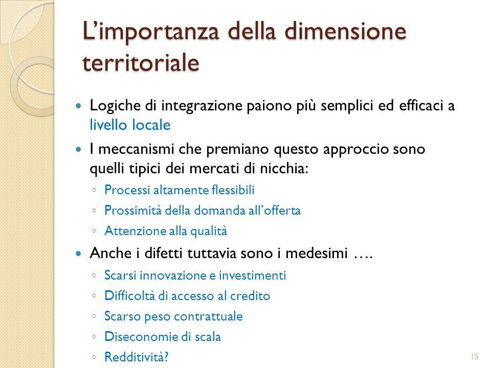 L'importanza della dimensione territoriale