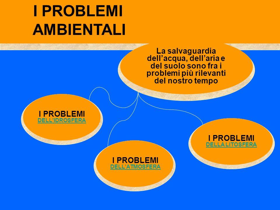 I PROBLEMI AMBIENTALI. La salvaguardia dell'acqua, dell'aria e del suolo sono fra i problemi più rilevanti del nostro tempo.
