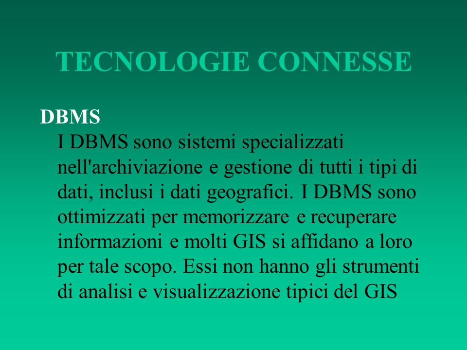 TECNOLOGIE CONNESSE