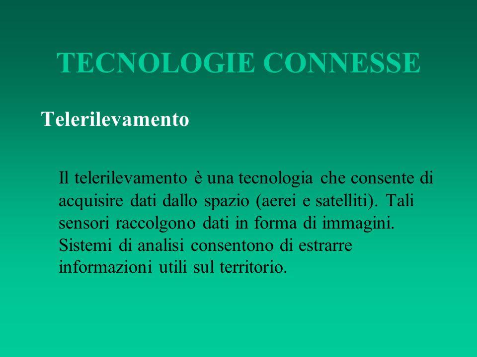 TECNOLOGIE CONNESSE Telerilevamento