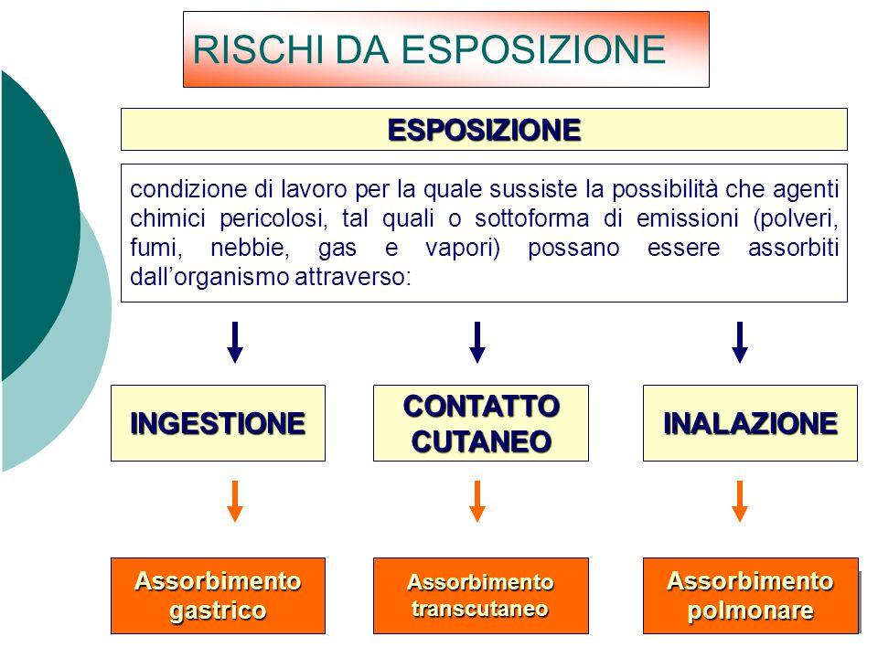 Assorbimento gastrico Assorbimento transcutaneo Assorbimento polmonare