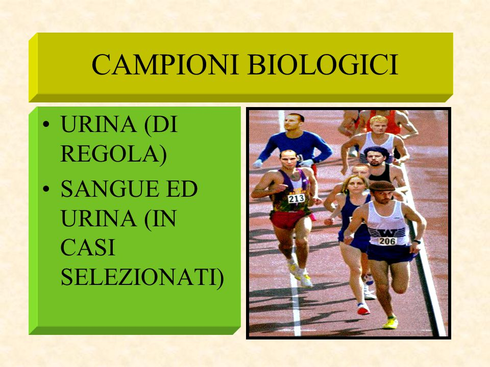 CAMPIONI BIOLOGICI URINA (DI REGOLA)