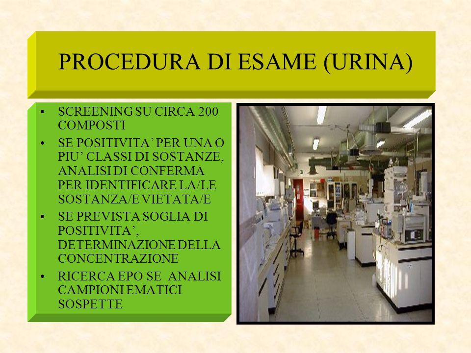 PROCEDURA DI ESAME (URINA)