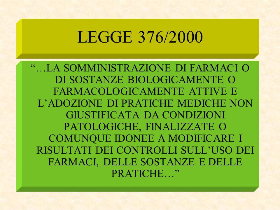 LEGGE 376/2000