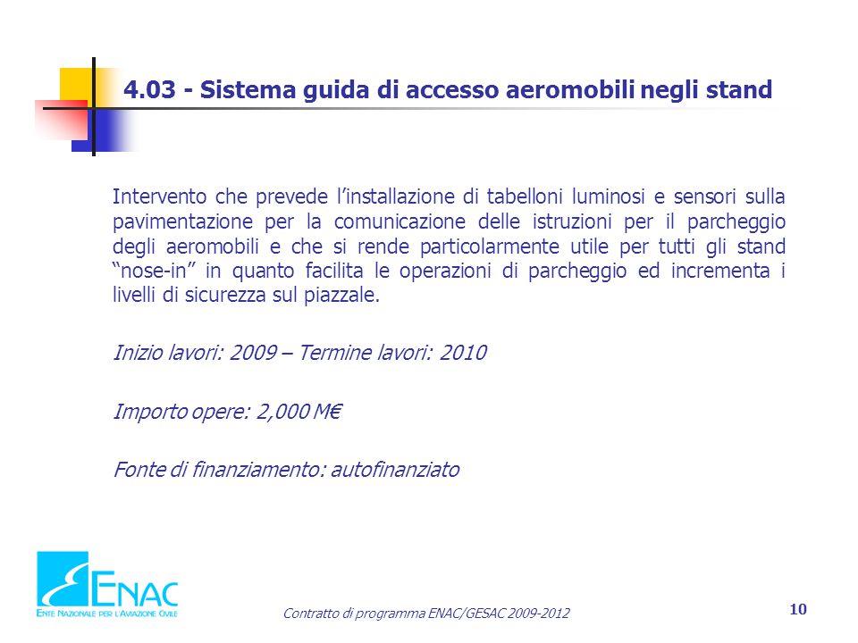 4.03 - Sistema guida di accesso aeromobili negli stand