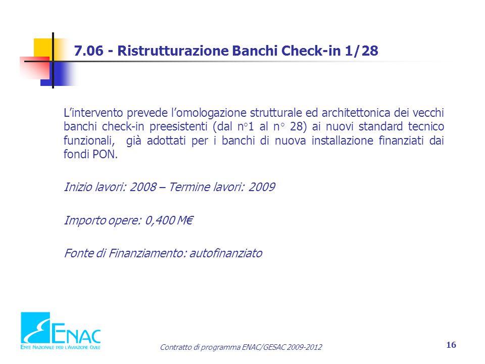 7.06 - Ristrutturazione Banchi Check-in 1/28