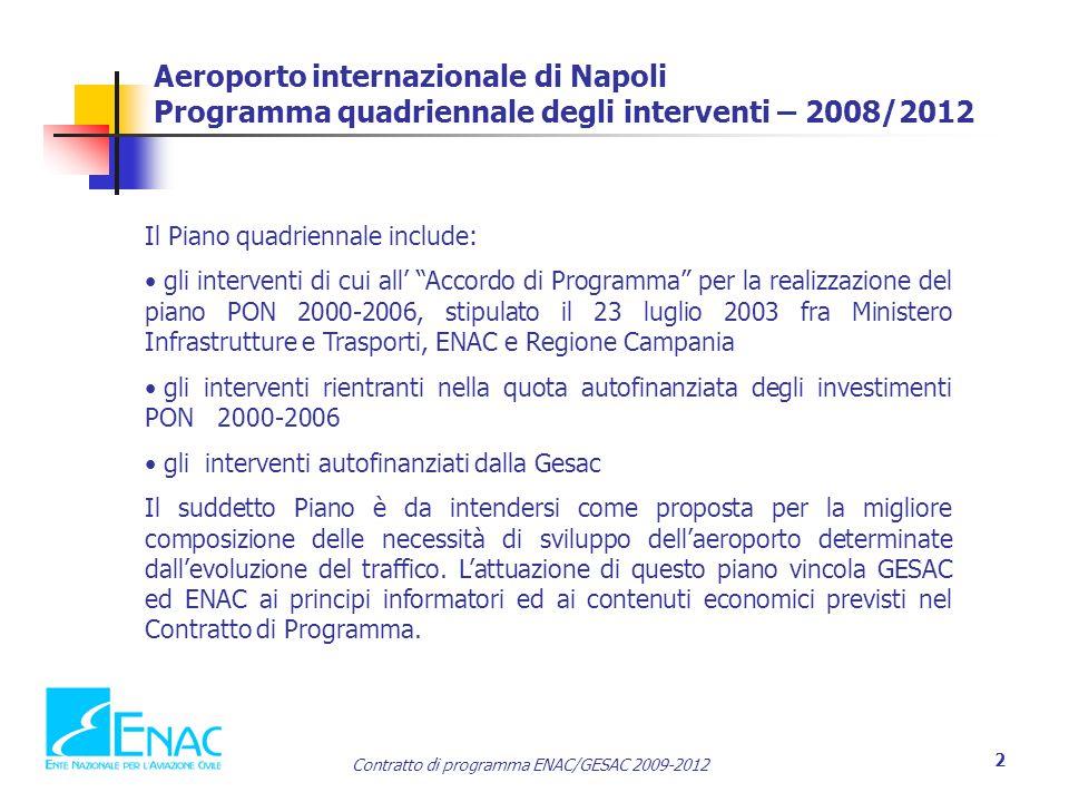 Aeroporto internazionale di Napoli Programma quadriennale degli interventi – 2008/2012