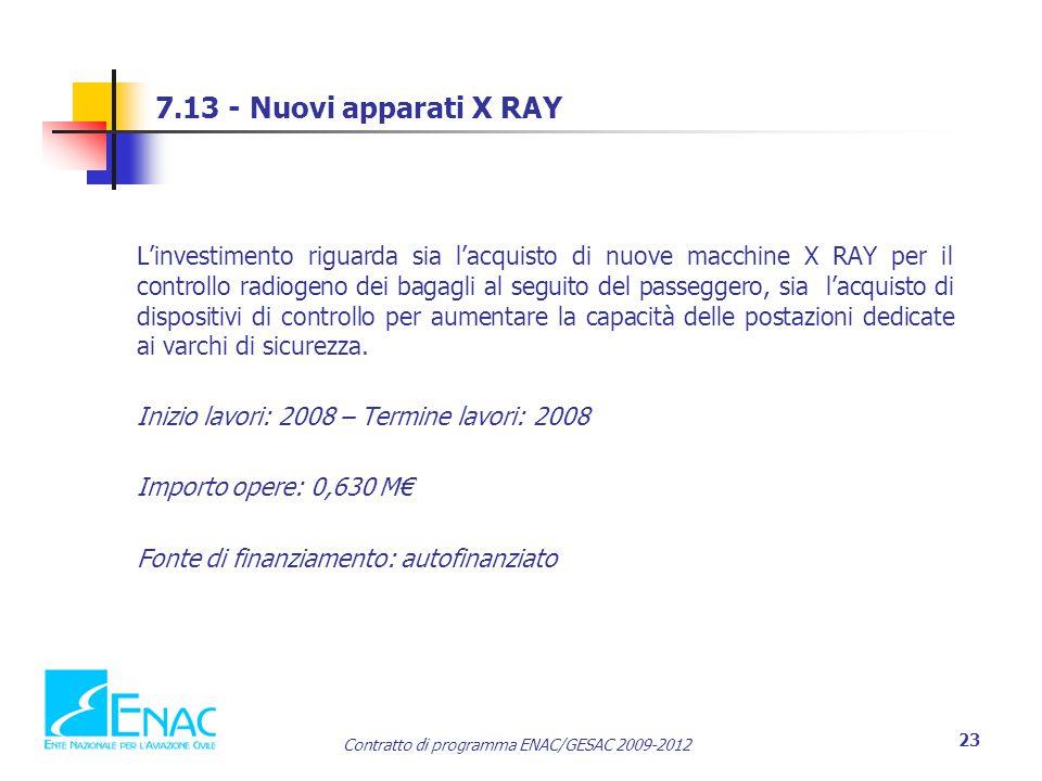 7.13 - Nuovi apparati X RAY