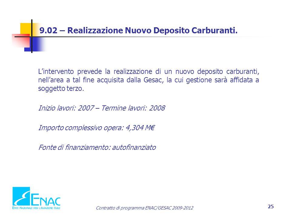 9.02 – Realizzazione Nuovo Deposito Carburanti.