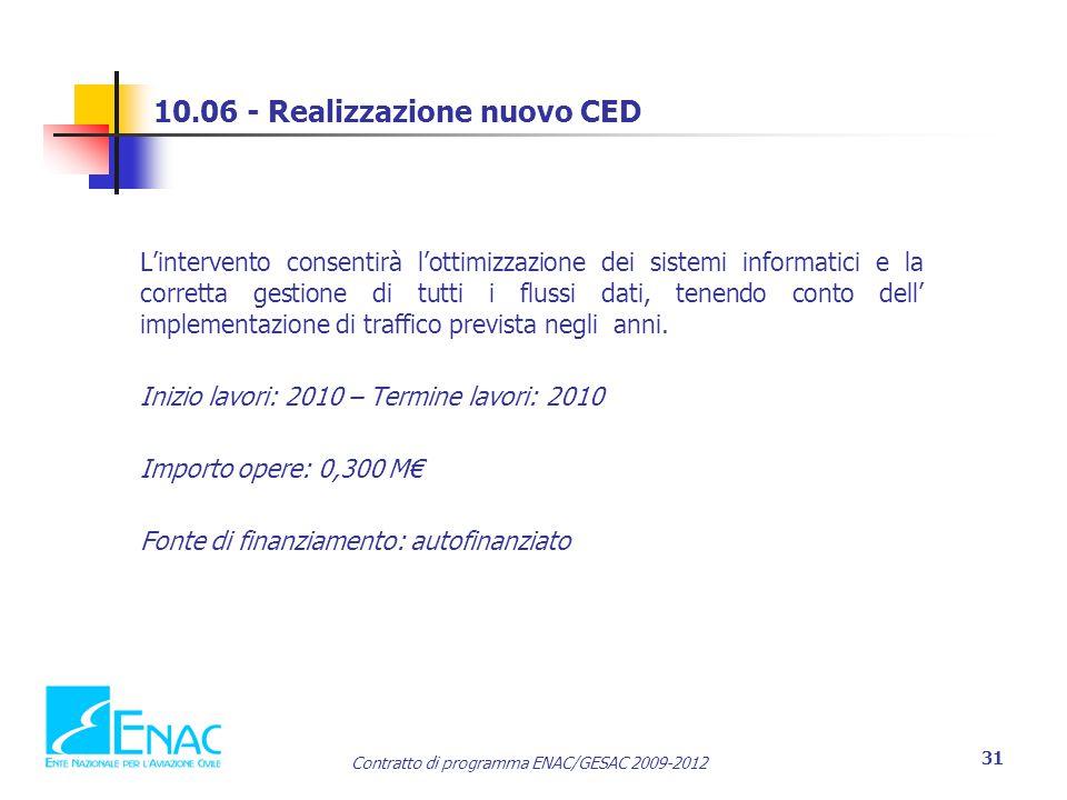 10.06 - Realizzazione nuovo CED