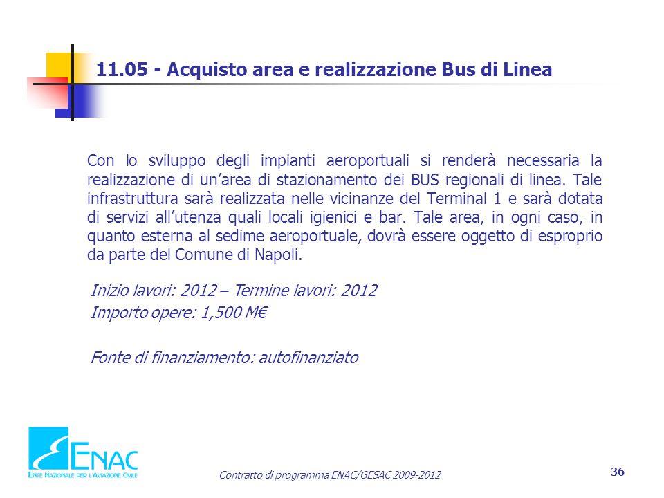 11.05 - Acquisto area e realizzazione Bus di Linea