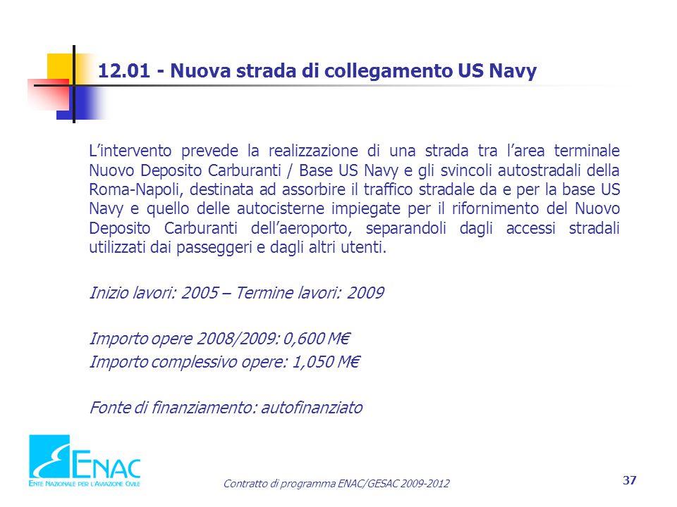 12.01 - Nuova strada di collegamento US Navy