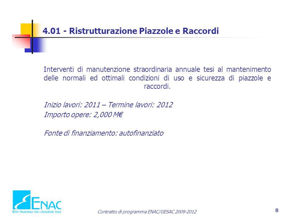 4.01 - Ristrutturazione Piazzole e Raccordi