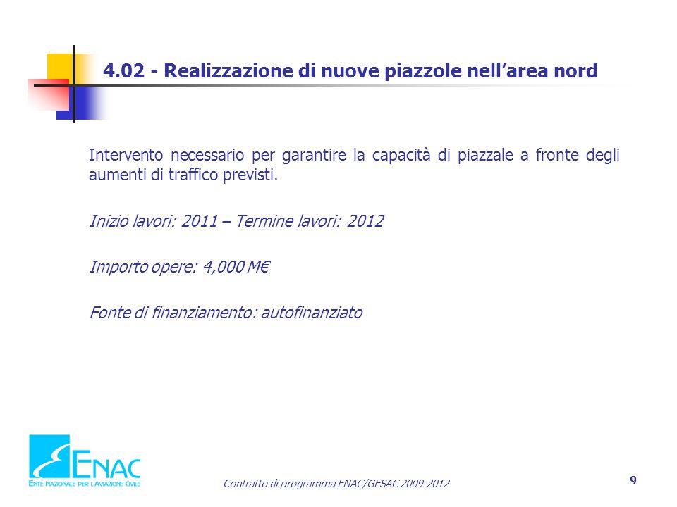 4.02 - Realizzazione di nuove piazzole nell'area nord