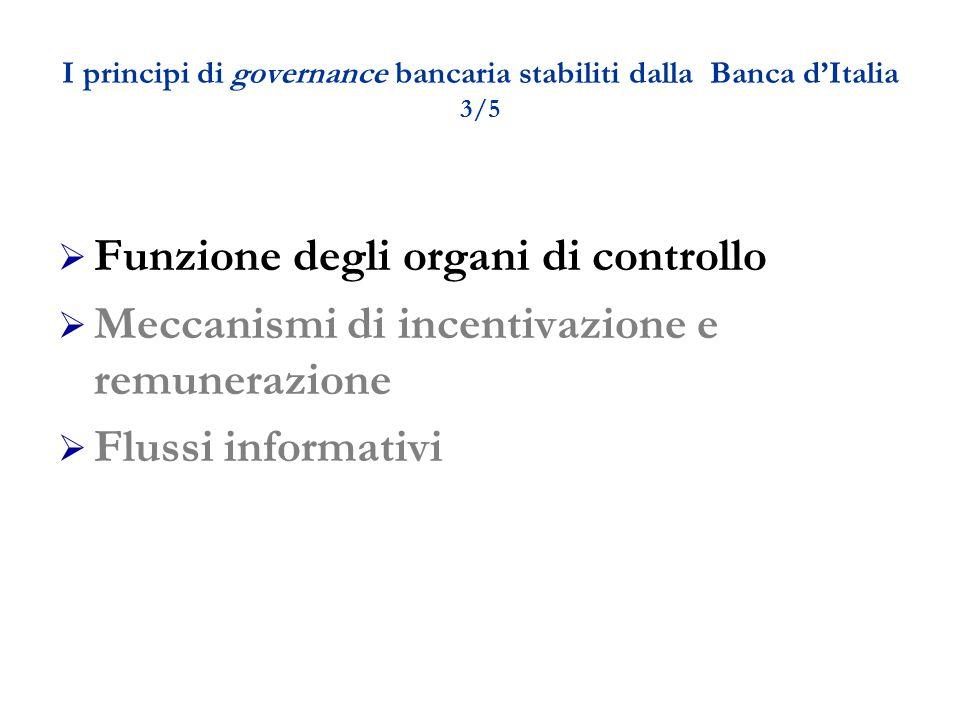 I principi di governance bancaria stabiliti dalla Banca d'Italia 3/5