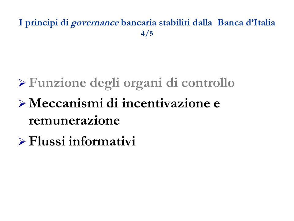 I principi di governance bancaria stabiliti dalla Banca d'Italia 4/5