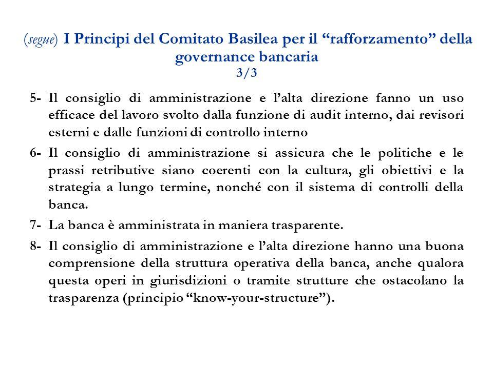 7- La banca è amministrata in maniera trasparente.