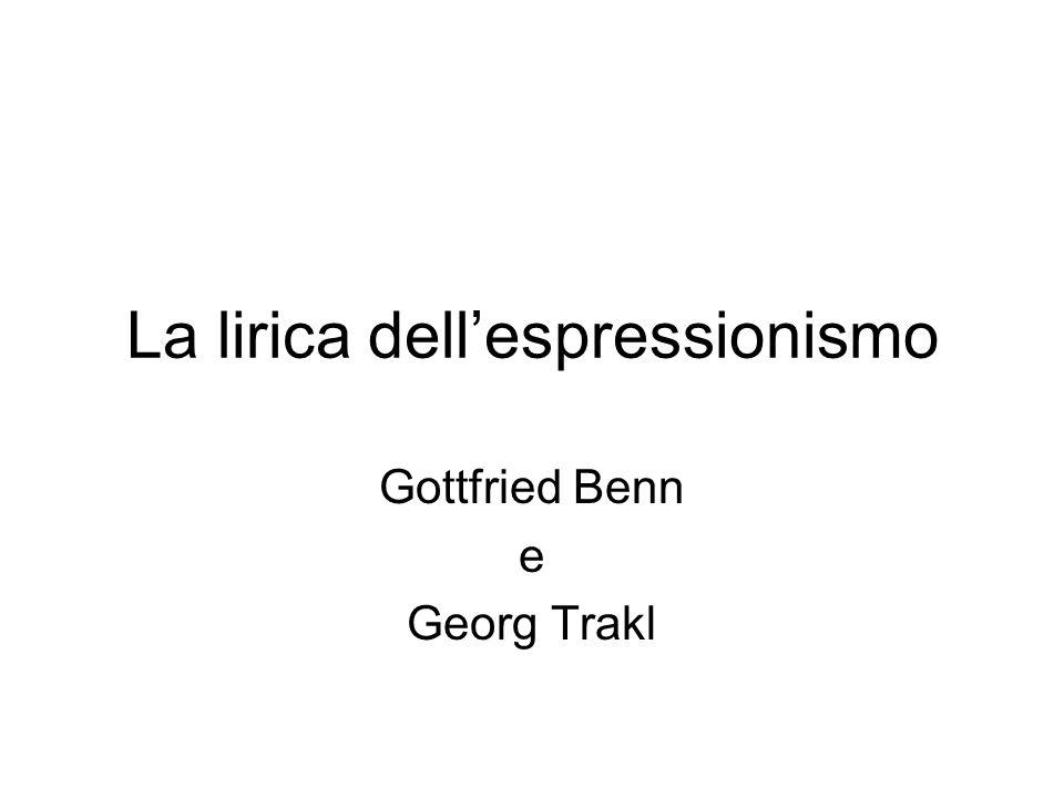 La lirica dell'espressionismo