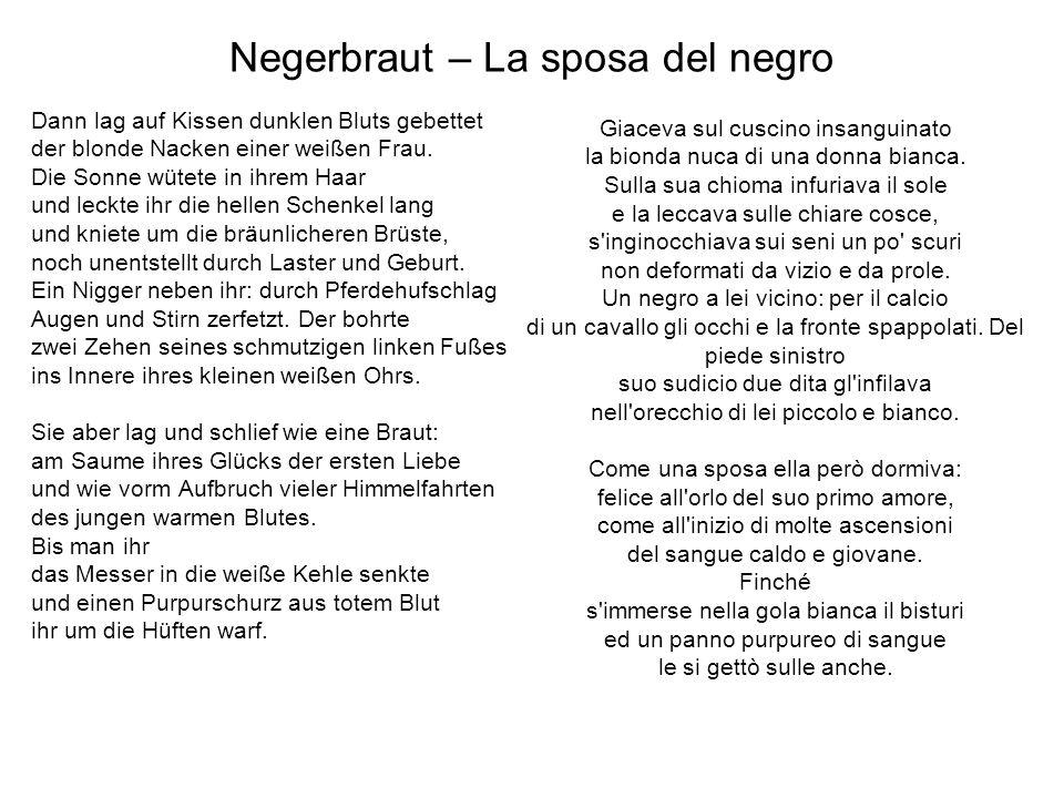 Negerbraut – La sposa del negro