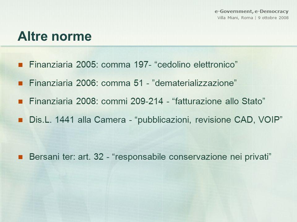 Altre norme Finanziaria 2005: comma 197- cedolino elettronico
