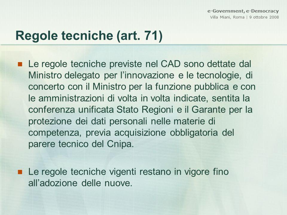 Regole tecniche (art. 71)