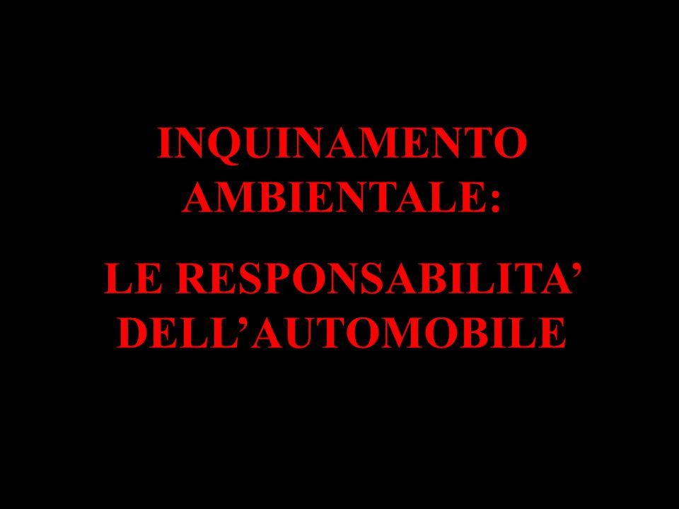INQUINAMENTO AMBIENTALE: LE RESPONSABILITA' DELL'AUTOMOBILE